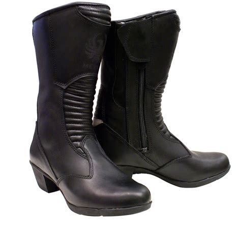 ladies black motorcycle boots merlin tilly ladies full leather waterproof womens