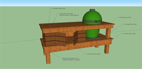 plans for large green egg table woodwork big green egg long table plans pdf plans