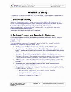 61594881 feasibility study template for Feasibility study template doc