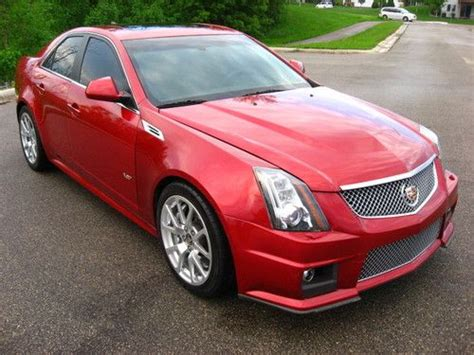 purchase   cadillac cts  red sedan hp loaded