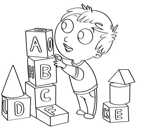 disegno  bambini da colorare gratis bambino giocare