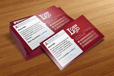 free social media business card template by cursiveq