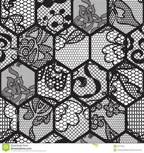 black lace vector fabric seamless pattern stock vector