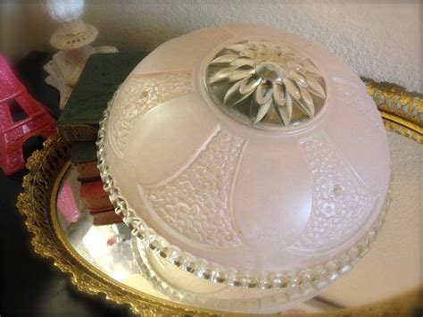 Glass Light Covers by Vintage Pink Scalloped Edge Glass Ceiling Light Fixture