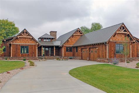 Rustic Mountain Ranch House Plan 18846CK Architectural