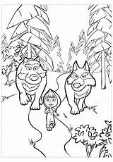 Wolf Coloring Printable Children sketch template
