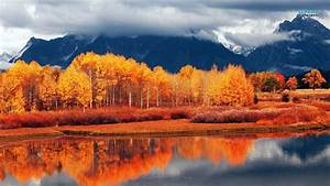Orange Autumn Landscape Awseome - 1366 x 768 - For ...