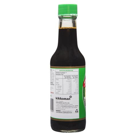 soy sauce ingredients kikkoman less salt soy sauce 250ml harris farm markets
