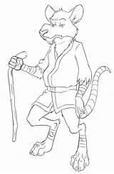 Splinter Master Drawing Getdrawings sketch template