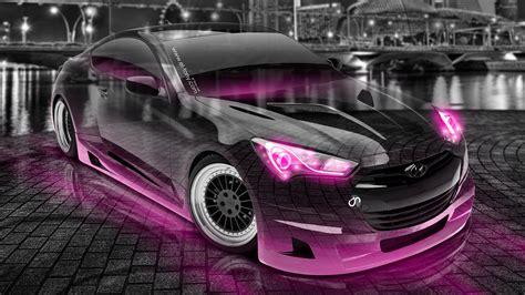 hyundai genesis coupe tuning crystal city night car