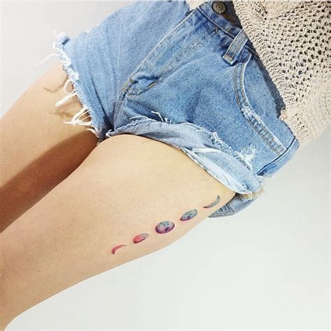 phases   moon tattoos  arm