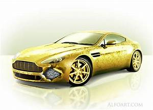 Aston Martin Pen : golden cover aston martin vantage beauty design gold ~ Jslefanu.com Haus und Dekorationen