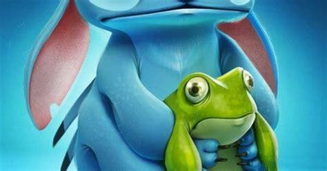 stitch holding  frog disney pinterest stitches