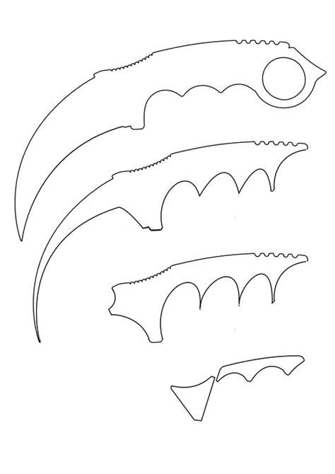 karambit template how to make paper cs go karambit knife template https www wat