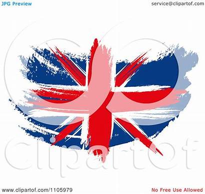 Union Jack Flag Clipart Illustration Painted Royalty