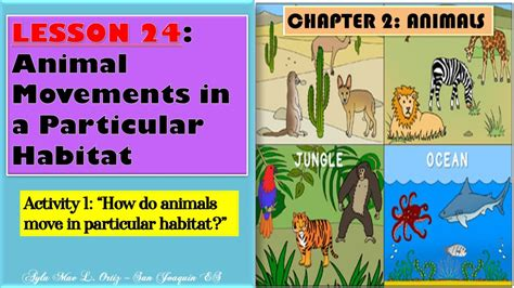 SCIENCE IV Lesson 24: Animal Movements in a Particular