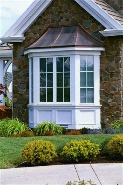 bay window  simple square trim  home ideas