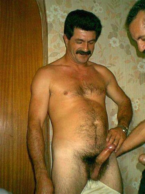 Ethnic Men: Turkish daddies playing and wanking together