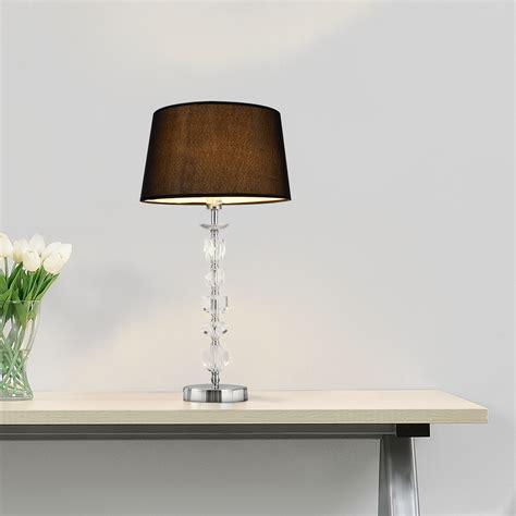 luxpro tischleuchte schwarz tischlampe hcm lampe