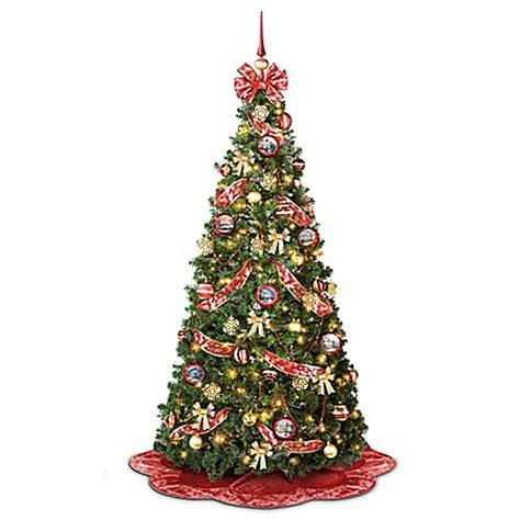 pull up christmas tree with lights thomas kinkade pre lit pull up christmas tree wondrous winter