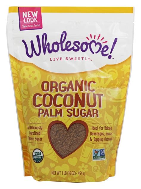 buy wholesome organic coconut palm sugar 1 lb at