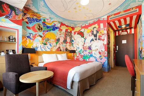 Anime Hotel Japan Japanese Artists Paint Murals In Rooms For Park Hotel