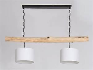 Pendelleuchte Mit Holz : pendelleuchte mit rustikalem holzstamm lampenschirme wei holz lampen ~ Whattoseeinmadrid.com Haus und Dekorationen