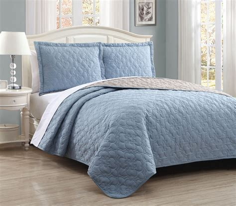 Blue Quilted Bedspread by Bedspread Quilts King The Best Quilt