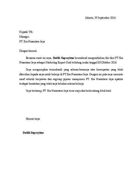 By posted on july 19, 2020. Surat Pengunduran Diri Doc - Guru Paud