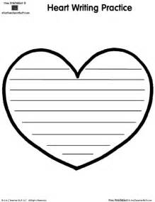 Heart writing template with lines search results for Heart shaped writing template