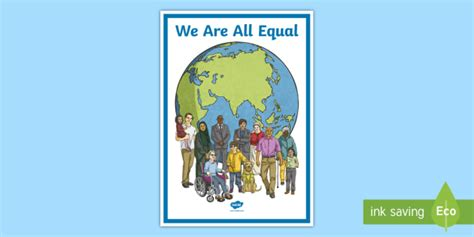 * New * We Are All Equal Display Poster  Multicultural Posters, Diversity
