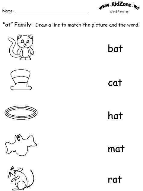 word family phonics worksheets