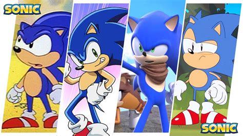 Sonic The Hedgehog Evolution In Cartoons, Movies & Tv