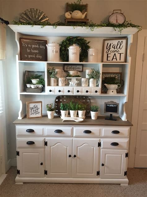 Kitchen Hutch Painting Ideas by Farmhouse Hutch Decor Rea Dunn Farmhouse Decorating In