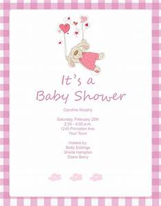 Baby Shower Invites For Girls Template | Best Template ...