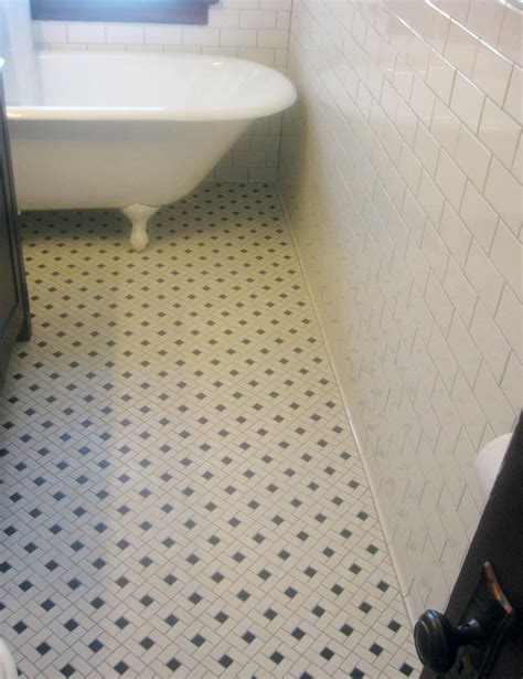 mosaic floor tile and clawfoot tub home improvement