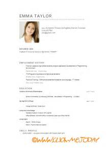 free short cv model cv model download word doc pdf