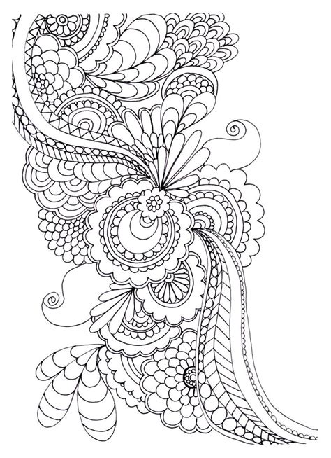 print   coloring page coloring adult zen anti