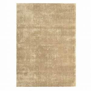 tapis design beige dore en laine et viscose With tapis laine design