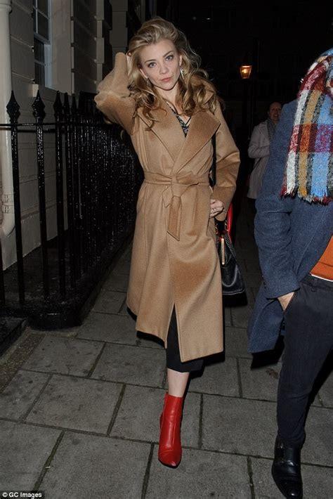 Natalie Dormer Website by Natalie Dormer Covers Up In A Chic Coat After Venus In Fur