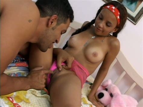 Super Cute Girl Latina Dani Playing With Her Favorite Toy