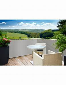Balkon sichtschutz grau for Französischer balkon mit garten essgruppe grau