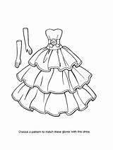 Coloring Pages Outfit Printable Dresses Getcolorings sketch template