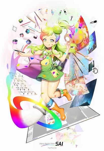 Sai Tan Painttool Os Anime Painting Shuushuu