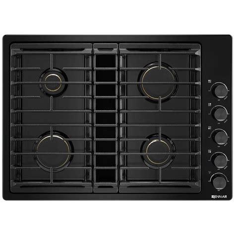 jgdgb jenn air  downdraft gas cooktop black  black pieratts appliances appliances