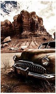 Wallpaper : landscape, vehicle, Vintage car, North America ...