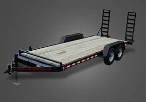 Heavy Duty Deluxe 20 Ft  Wood Floor Equipment Trailer