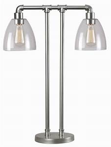 steam galvanized metal fitter table lamp 32630gm kenroy home With galvanized metal floor lamp