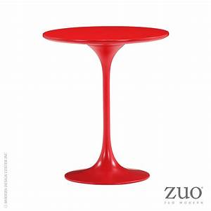 Wilco Side Table Red - 401143 Zuo Mod MetropolitanDecor