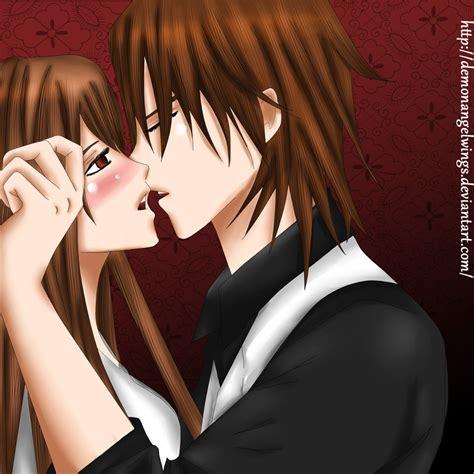 naughty kiss kaname  yuuki  demonangelwings  deviantart